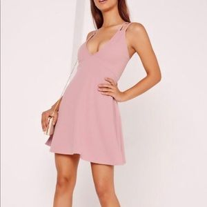 NWOT Missguided Mauve Mini Dress